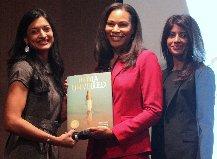 Receiving honor by Directors Kirti Surati and Jagruti Panwala, Women in Hotel Leadership, AAHOA